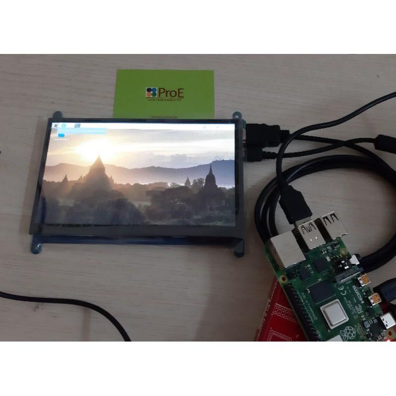 Màn hình 7inch HDMI LCD (C), cảm ứng điện dung, độ phân giải 1024×600, dùng cho Raspberry Pi