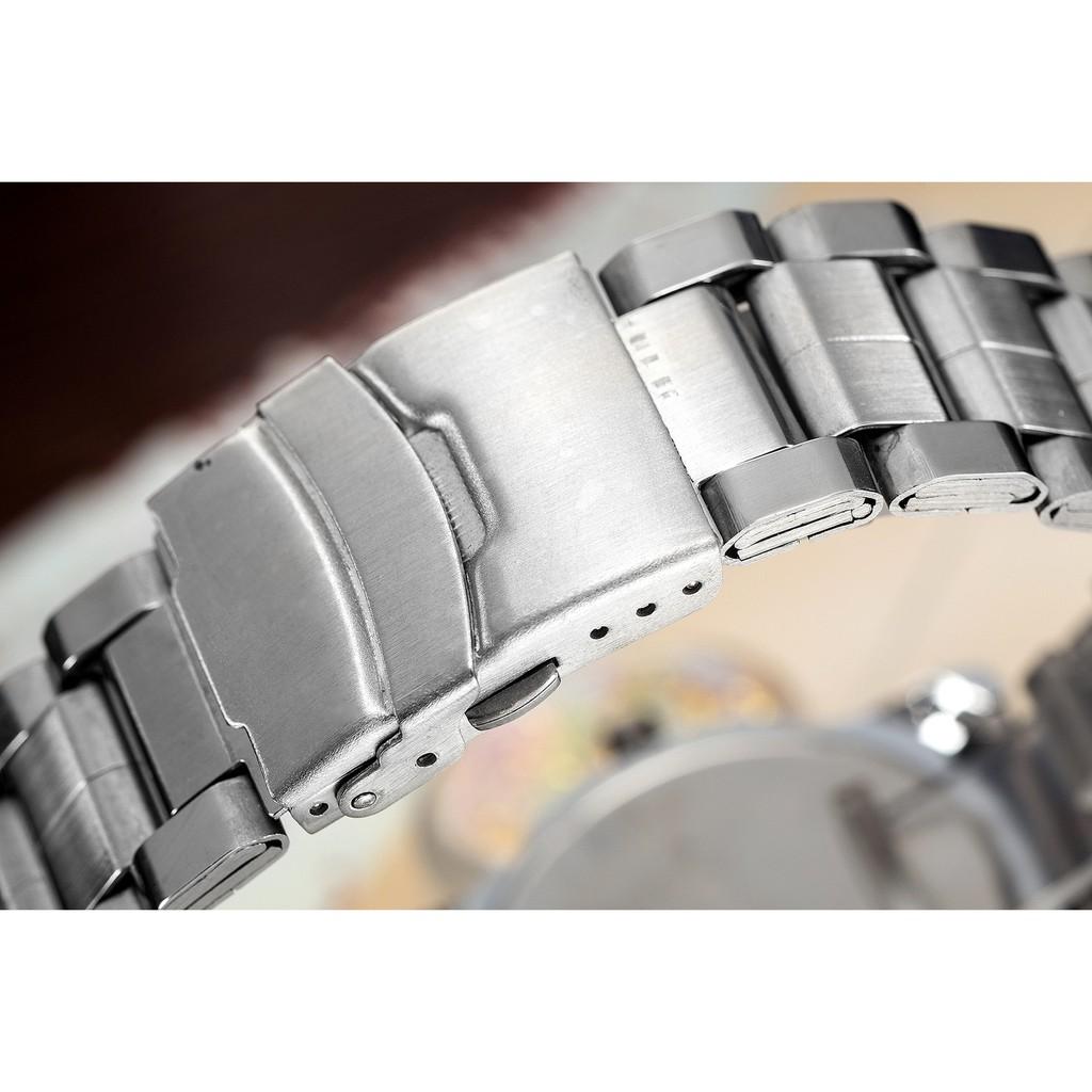 (Siêu phẩm) Đồng hồ nam KINGNUOS K7771 có lịch ngày dây hợp kim không gỉ cao cấp + Tặng vòng tay tỳ hưu