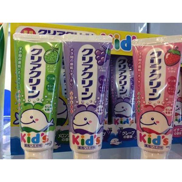 Kem đánh răng trẻ em Kao Kid 70g - Nhật