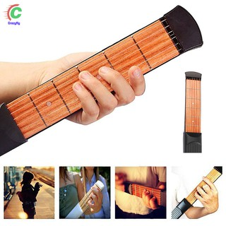Portable Pocket Acoustic Guitar Practice Tool 6 String Fingerboard 6 Fret Chord Trainer Supplies