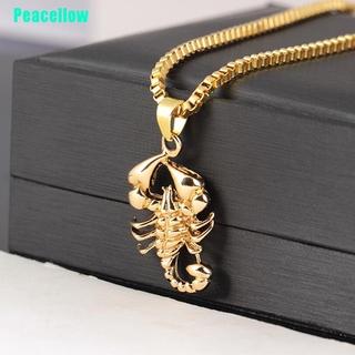 Peacellow Fashion Hip Hop Men Scorpio Long Chain Sweater Necklace Punk Rock Jewelry Gift