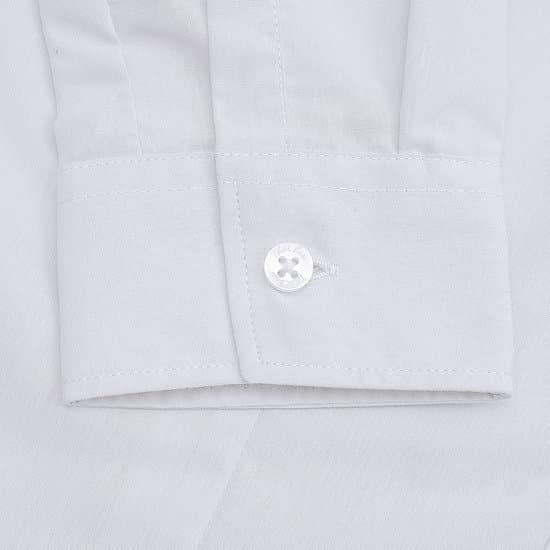 Mặc gì đẹp: Lịch sự với Áo sơ mi nữ công sở dài tay màu trắng, vải cotton Thái Hòa 047-01-01