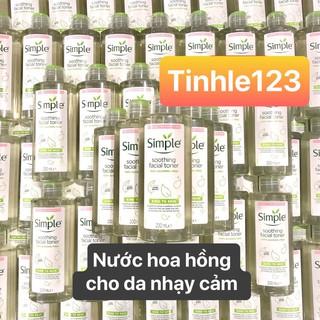 (Mẫu Mới 2020) Nước Hoa Hồng Simple Dịu Nhẹ Cho Da Nhạy Cảm Soothing Facial Toner thumbnail