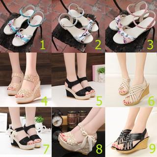 Giày đế xuồng, sandal đế xuồng nhiều mẫu Size 35 đến 40 thumbnail