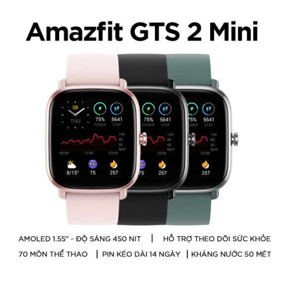 Đồng Hồ Thông Minh Amazfit GTS 2 Mini - Hàng Chính Hãng - Bảo Hành 12 Tháng