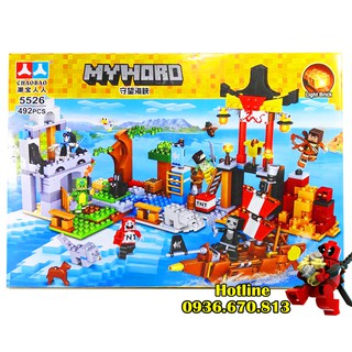Bộ Lego Xếp Hình Mineecraft My World. Gồm 492 Chi Tiết. Lego Ninjago Lắp Ráp Đồ Chơi Cho Bé.