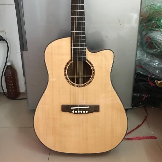 Guitar ACOUSTIC A25 gỗ Hồng Đào kỹ. Có ty chỉnh cần. TỔNG KHO ĐÀN HN