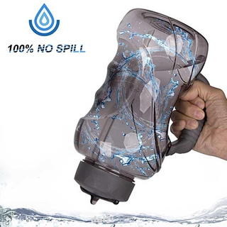 1.5L Drinking Cycling Leakproof Large Capacity Portable Anti-slip Handle Outdoor Sports Bottle