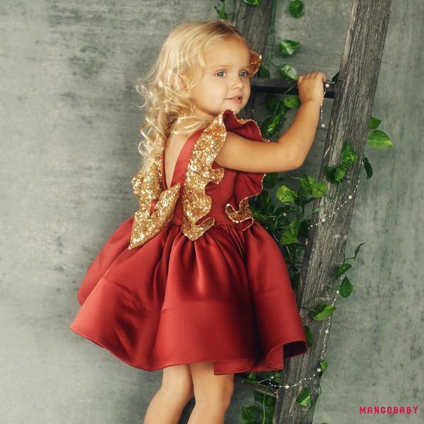 Đầm Xòe Công Chúa Xinh Xắn Cho Bé Gái
