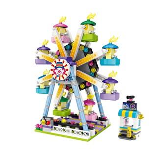 Bộ xếp hình LOZ Khối xây dựng sân chơi mini có thể xoay linh hoạt – Đu quay bánh xe