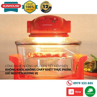 [GIẢM GIÁ] Lò nướng thủy tinh 12 lít Sunhouse SH416