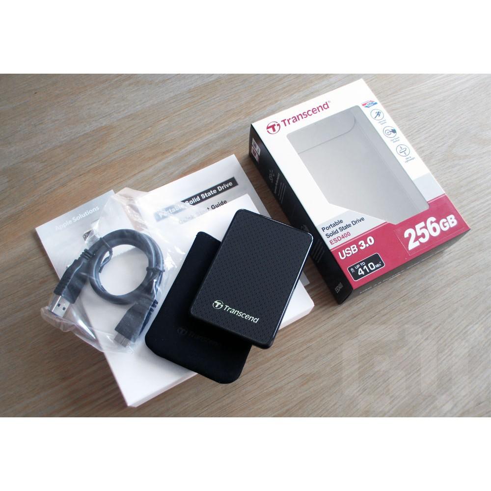 Ổ cứng SSD Transcend Gắn Ngoài 256GB External SSD, USB3.0