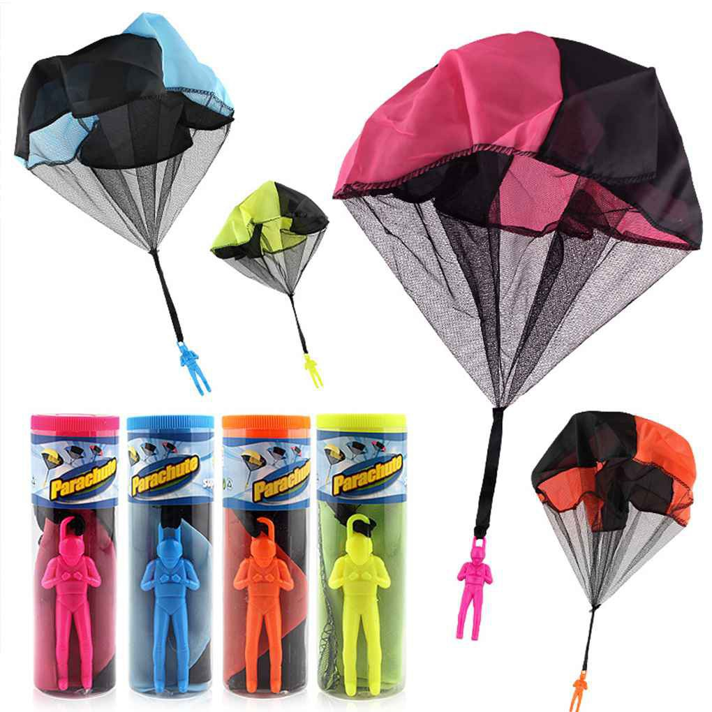 Mini Hand Throw Plastic Kids Educational Parachute Throwing Toy_FF86