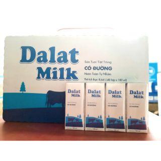 1 thùng sữa tươi có đường 180ml của Đà Lạt milk