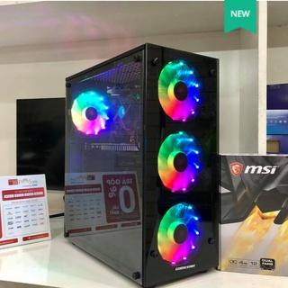 Vỏ Cây Máy Tính PC – Vỏ Case Gaming Start- GA – 4 Fan & 3 Fan (398 x 195 x 326 mm) – Quạt Tản Nhiệt LED