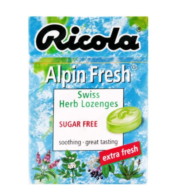 Kẹo thảo mộc Alpin fresh Ricola 45g