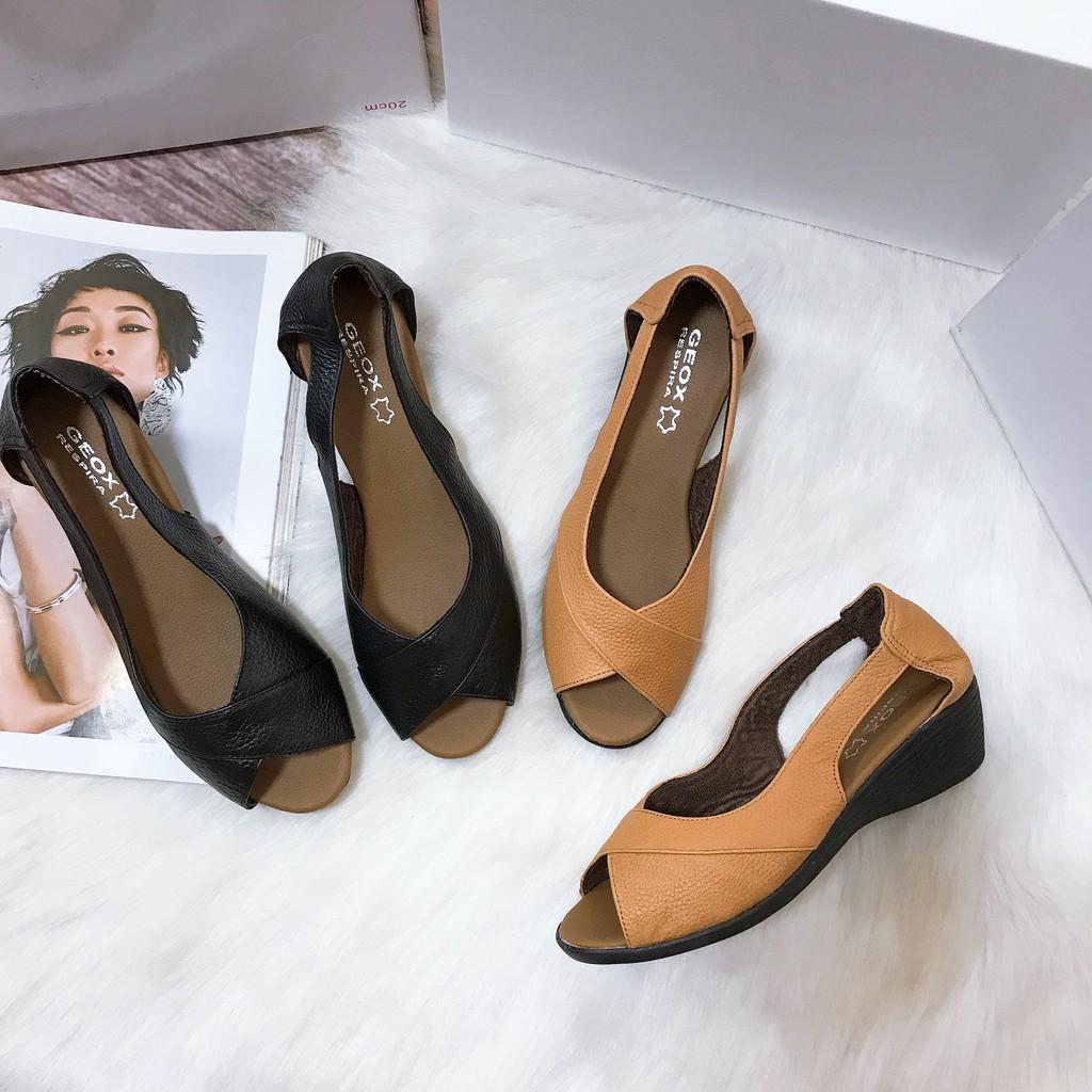 ✨FREESHIP-HANG CAO CẤP✨ Giày đế xuông da bò cao 4-5cm mang  cực êm