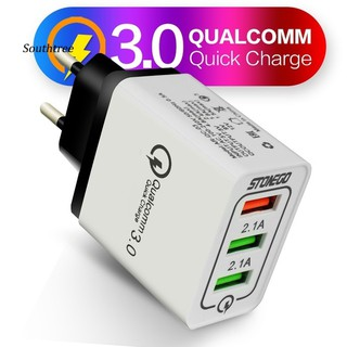 LYY_3 USB Port QC 3.0 Fast Charge Power Adapter Travel Wall Charger for Phone Tablet