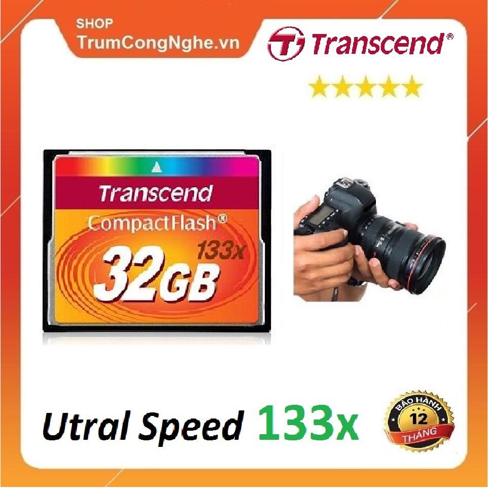 Thẻ nhớ CF Transcend CompactFlash 32GB 133x Speed dùng cho máy ảnh , máy  CNC giá cạnh tranh