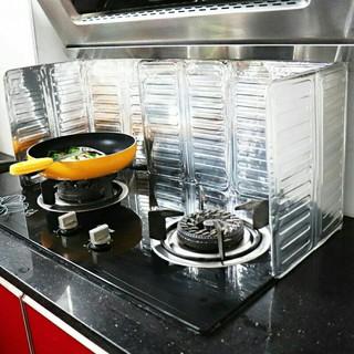 Dụng cụ chắn bếp ngăn dầu mỡ bằng bạc tiện dụng thumbnail