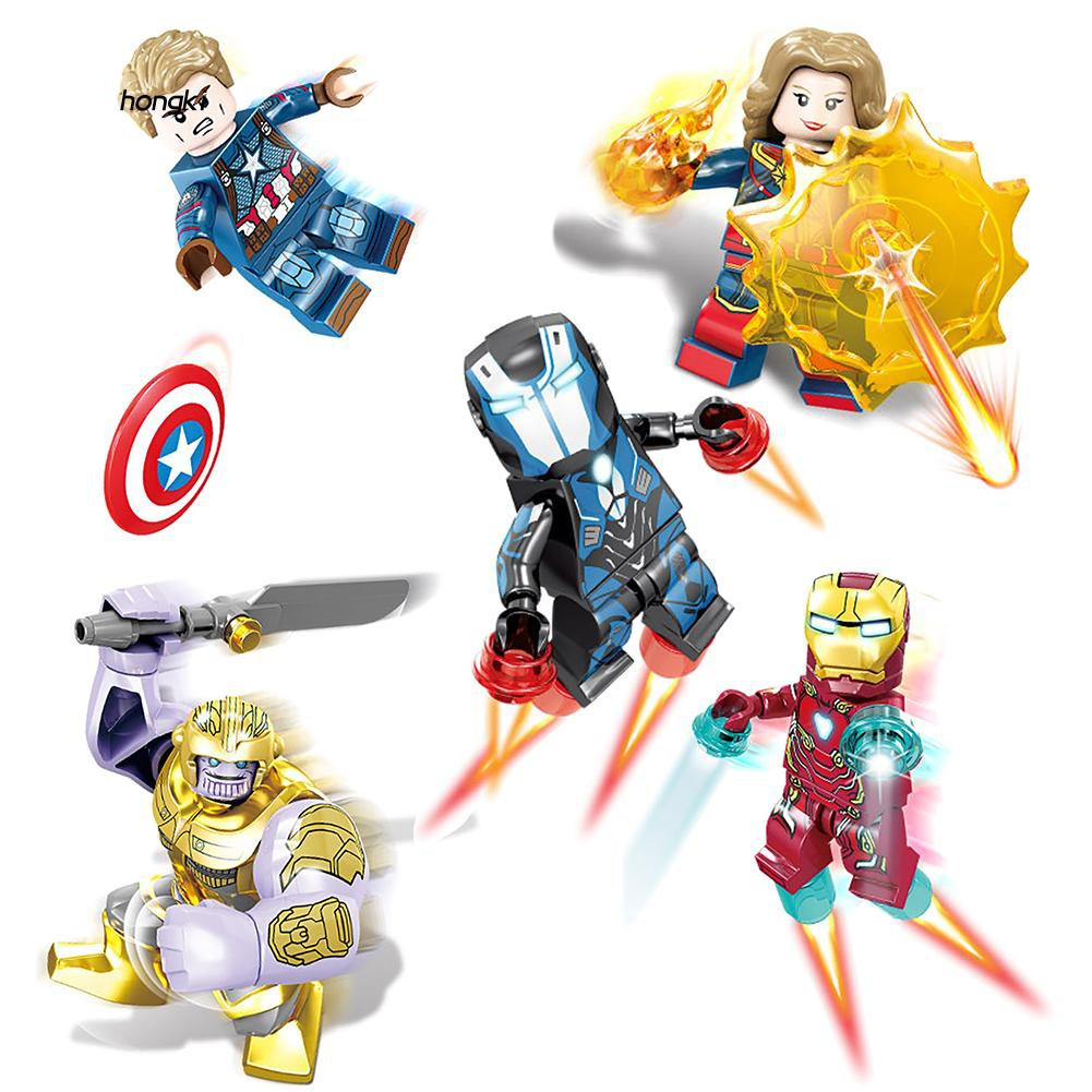 【HKM1】16Pcs Mini Avengers Dolls Action Figure Toys Building Blocks for Kids Children