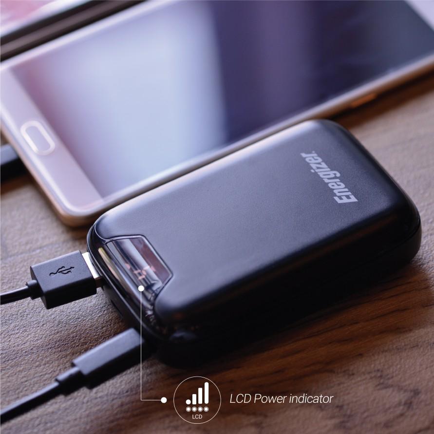 Hình ảnh [Nhập mã ENER20 giảm ngay 20k]Pin Sạc dự phòng Energizer 10,000mAh /3.7V Li-Polymer - UE10042BK-6