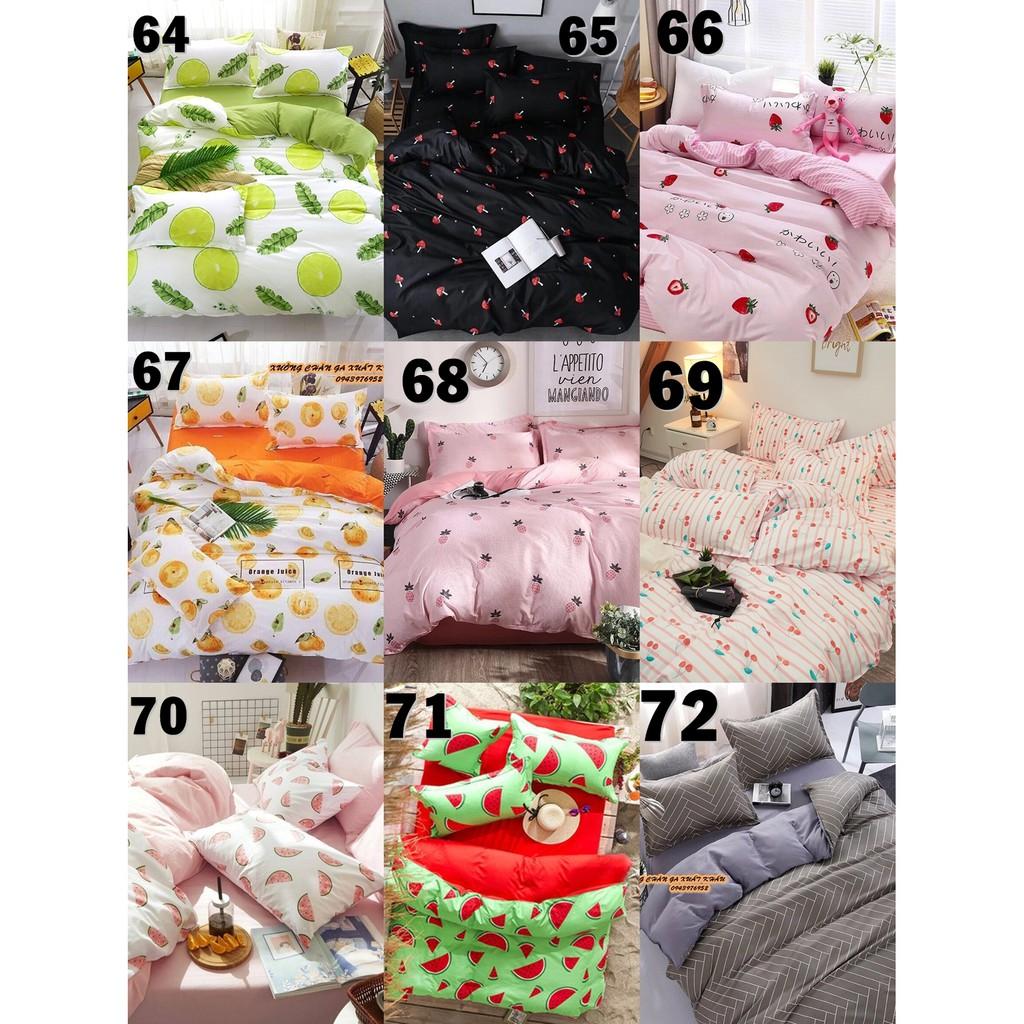 113 mẫu sét chăn ga gối cotton poly hàn quốc mới nhất