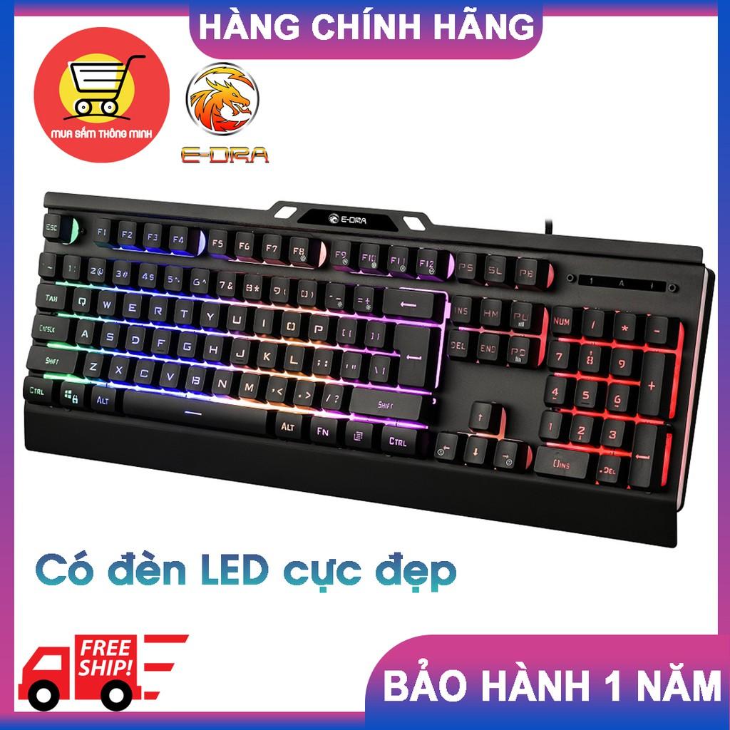 Bàn phím Gaming E-Dra EK701 – Bàn phím giả cơ, có đèn LED nhiều màu