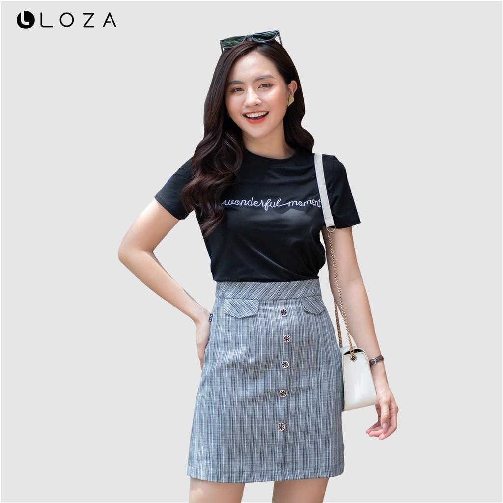 Áo phông nữ LOZA thêu chữ