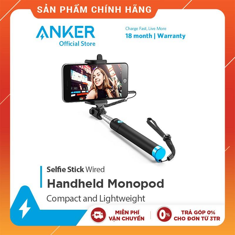 Gậy chụp ảnh tự sướng có dây ANKER Selfie Stick Wired - A7160