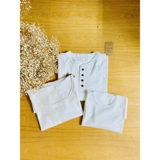 Áo phông trẻ em sợi bông hữu cơ màu trắng ngà nhãn thêu màu - Organic and Natural Life by Mimi