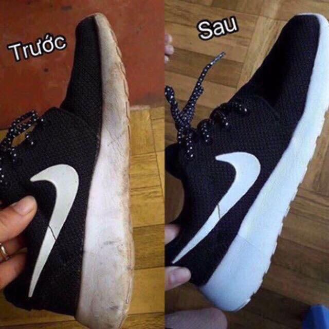 Combo 2 chai PLAC làm sạch giày dép và túi xách + tặng 1 đôi tất hài Made in Korea