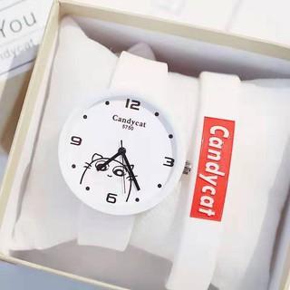 Hàng hót-Đồng hồ nữ babe candycat dây cao su siêu xinhCam kết chất lượng
