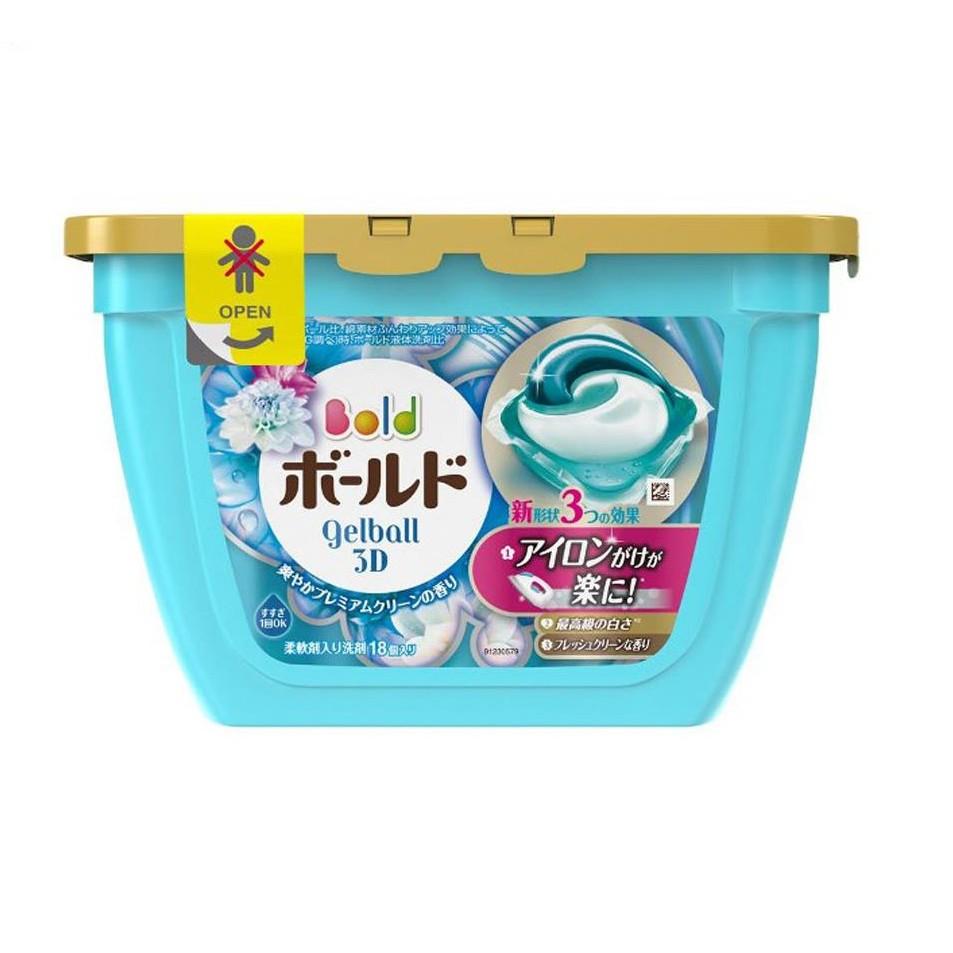 Hộp 18 viên nước giặt xả Gel ball 3D Nhật bản Nhap HL1906 giàm còn 62k |  Shopee Việt Nam