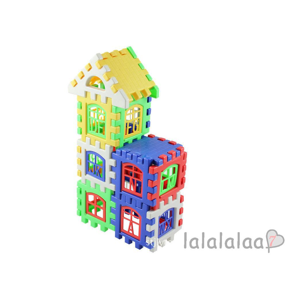 ❆☉❆24pcs Creative Colorful Plastic Building Blocks Children Educational Toy Gift