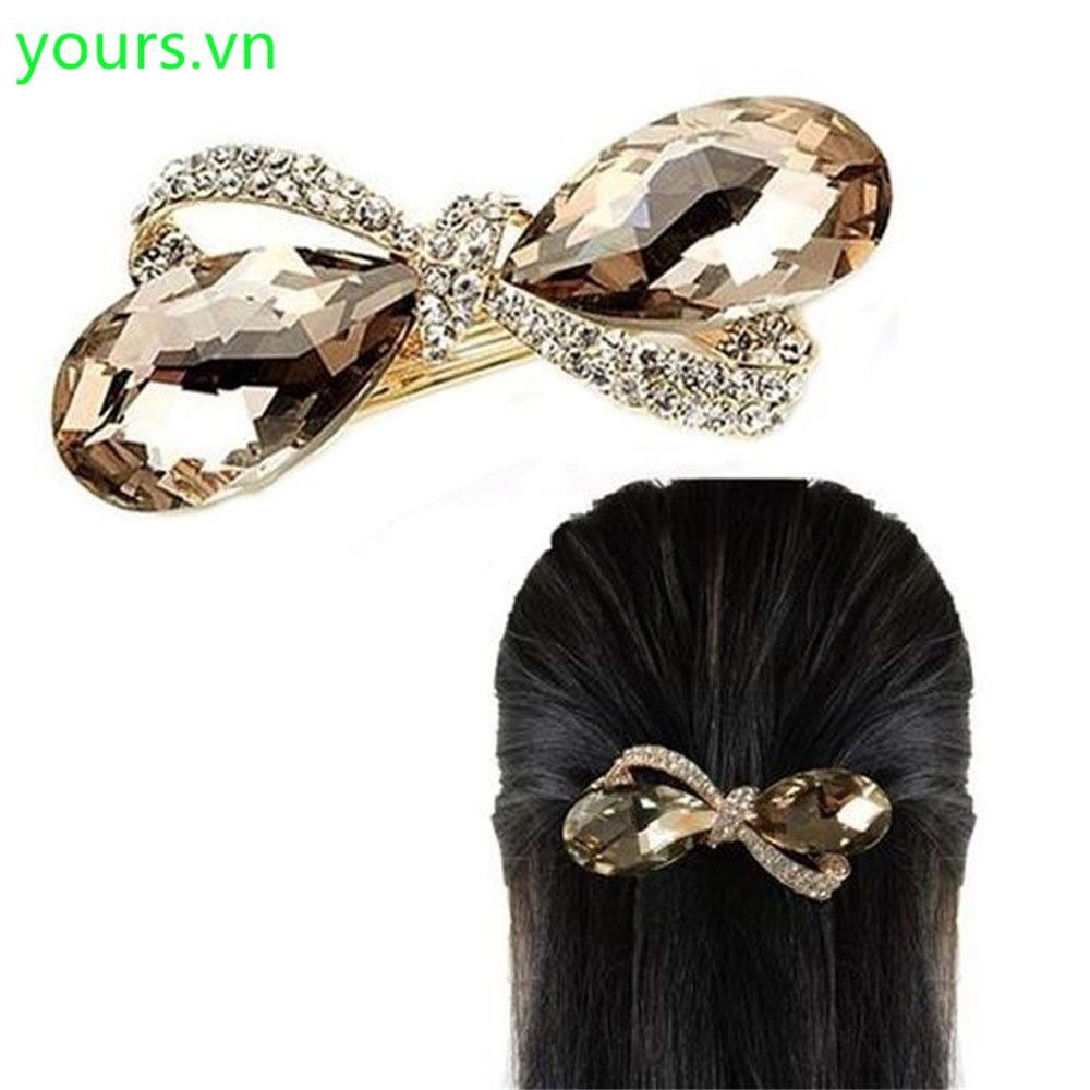 Kẹp tóc hình oval đính đá - 14018644 , 1976766049 , 322_1976766049 , 48800 , Kep-toc-hinh-oval-dinh-da-322_1976766049 , shopee.vn , Kẹp tóc hình oval đính đá