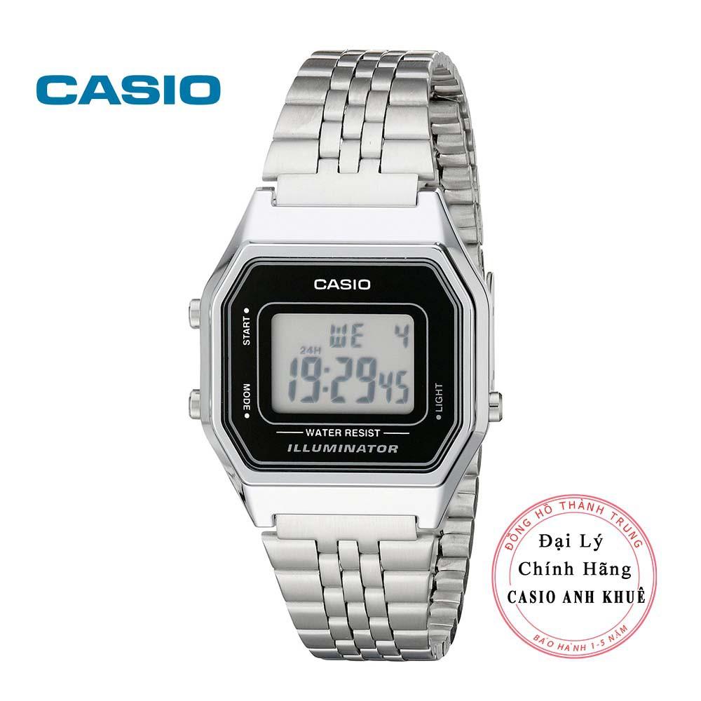 Đồng hồ điện tử nữ Casio Vintage LA680WA-1DF dây kim loại