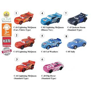 Bộ 8 mẫu xe Tomica nhân vật McQueen & các bạn phim THẾ GIỚI XE HƠI – DISNEY CARS tặng 01 xe Tomica Die-cast