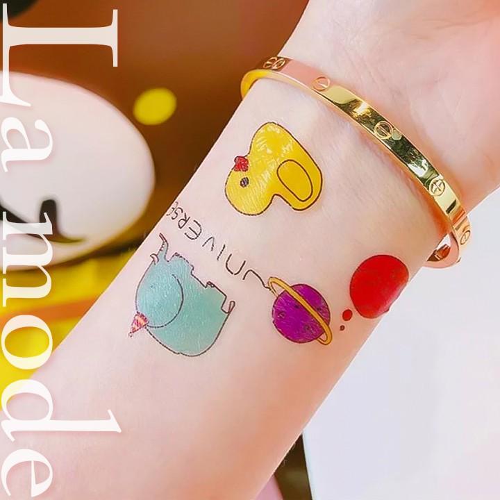 Hình Xăm Dán Họa Tiết Sticker Hoạt Hình Hàn Quốc Dễ Thương - La mode