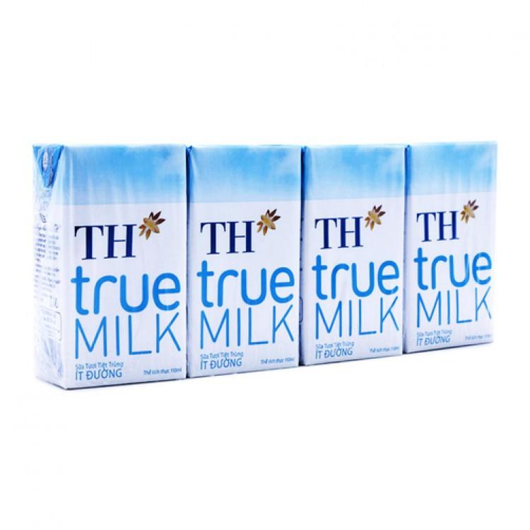 Sữa tươi TH True Milk loại 180ml (4 lốc) date năm 2018
