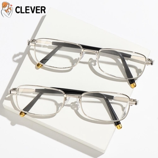 CLEVER Men Women Reading Eyeglasses Vision Care +1.0 to +4.0 Presbyopia Eyewear Computer Goggles Vintage Classic Fashion Unisex with Case&Clean Cloth