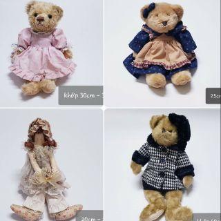 Set gấu bông mặc đồ cổ điển