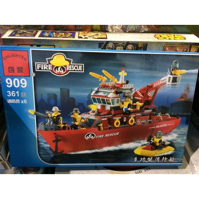 |Đồ Chơi Trẻ Em | Mẫu Xếp Hình EnLighten 909 Tàu Cứu Hộ