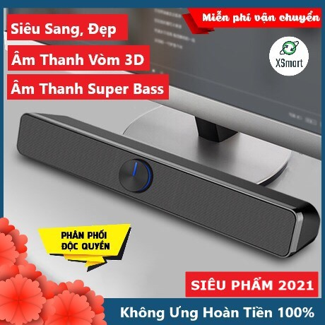 Loa SADA V-193 SUPER BASS 2021 Có Bluetooth Âm Thanh Vòm 3D Phiên Bản Đặc Biệt Dùng Cho Máy Tính Vi Tính Laptop PC Tivi