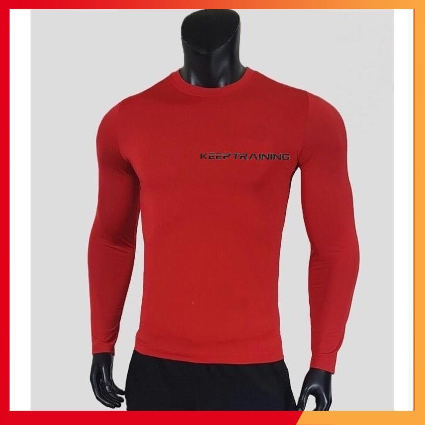 Hàng Cao Cấp -  FreeShip -  Áo giữ nhiệt nam áo dài tay áo thể thao nam 6 màu KEEP TRAINING