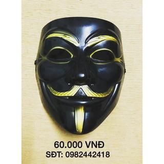 Mặt nạ hacker anonymous màu đen-w06 _hàng bao đẹp