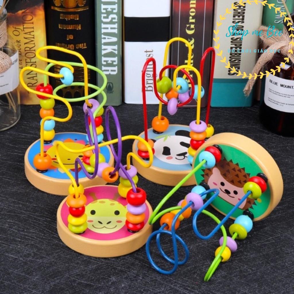 Đồ chơi gỗ - Luồn hạt loại nhỏ rèn vận động tinh cho bé, Giá tháng 12/2020