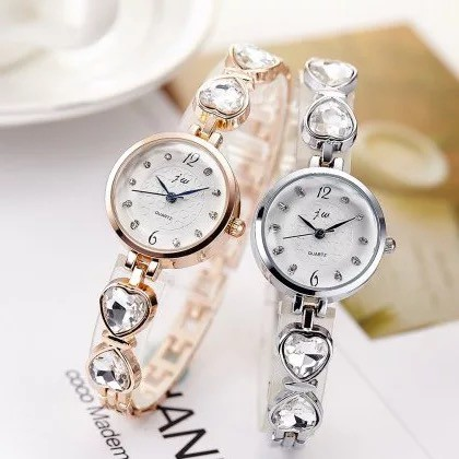 Female student rose gold ladies water diamond British fashion watch
