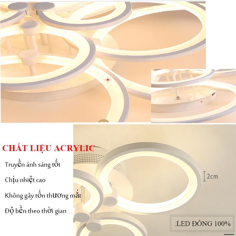 Đèn Ốp Trần Trang Trí Phòng Khách Đèn Led 12 Cánh, 3 Chế Độ Sáng Kèm Điều Khiển Từ Xa Bảo Hành 12 Tháng VTM