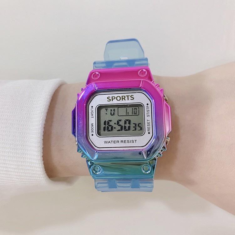 Đồng hồ điện tử thời trang nam nữ Sports sp3 khung màu titan mẫu mới cực chất b4ve